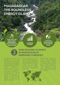 Reasons to invest in Madagascar in renewable energies