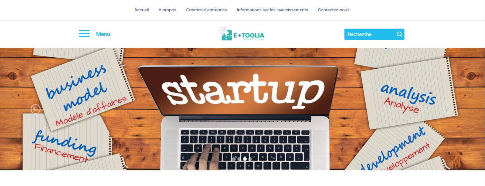 etoolia outils d'aide plateforme digitale formation entrepreunariat en ligne
